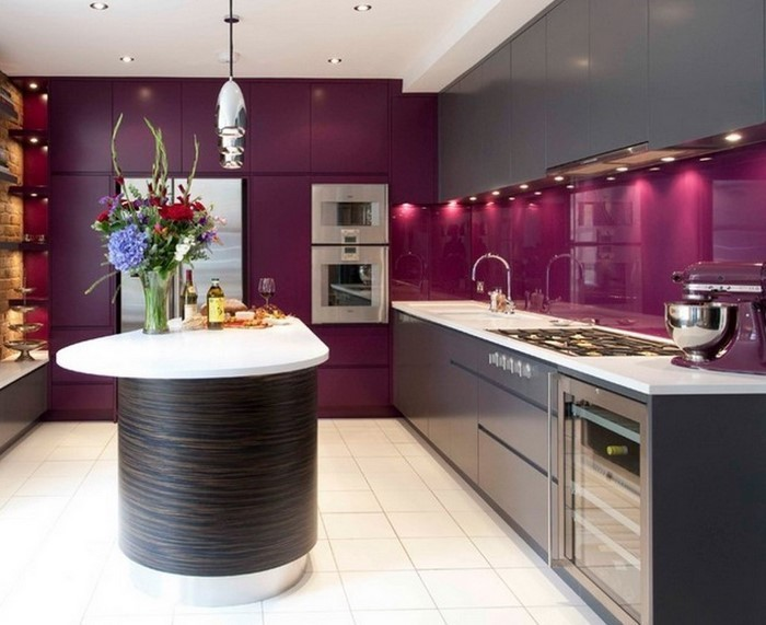 kuche lila die neuesten innenarchitekturideen. Black Bedroom Furniture Sets. Home Design Ideas