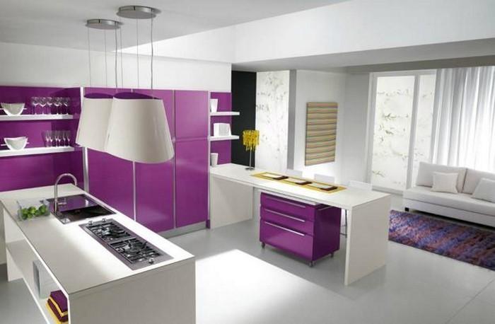 Küche Lila Kreative Ideen für Ihr Zuhause Design