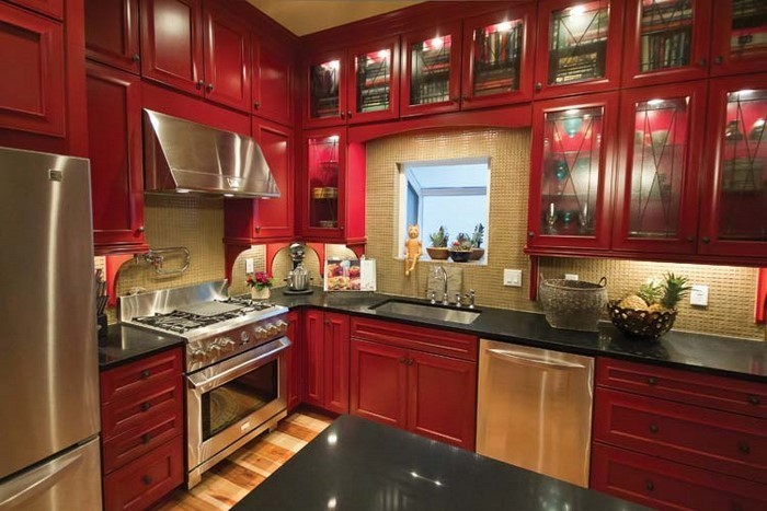 Küche In Rot Gestalten: Das Sinnliche Rot