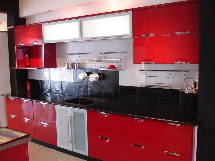 Kücheninsel Rot ~ küche in rot gestalten das sinnliche