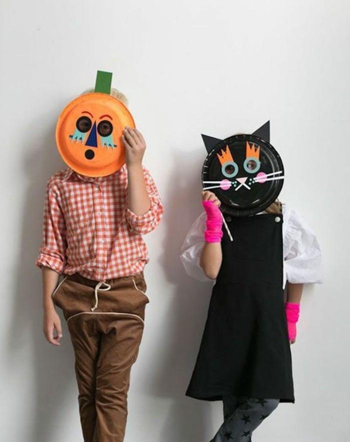 Masken-basteln-mit-Kindern-schwarze-Katze