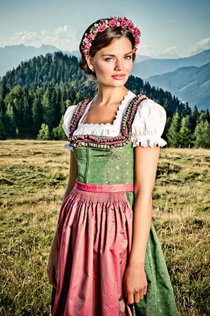 Oktoberfest-Kleidung-ein-süßes-Mädchen