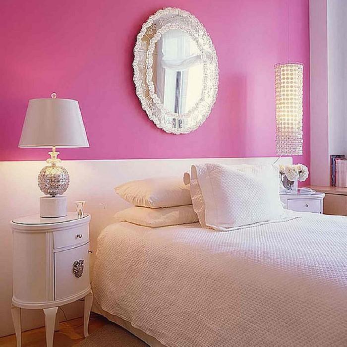 Schlafzimmer farblich gestalten: das fröhliche Rosa