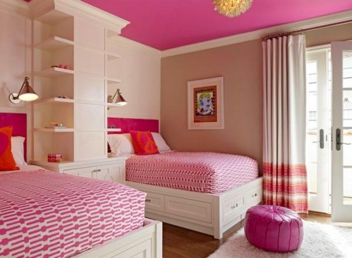 Schlafzimmer Dachschrage Farblich Gestalten : SchlafzimmerfarblichgestaltenmitRosaEintollesInterieur