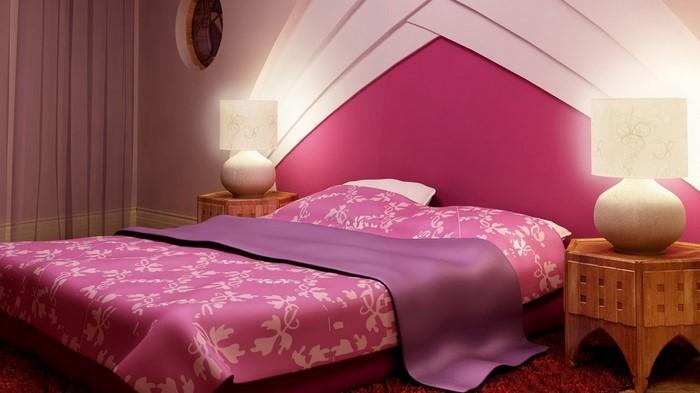 Schlafzimmer Farblich Gestalten: Das Fröhliche Rosa Rosa Schlafzimmer Gestalten