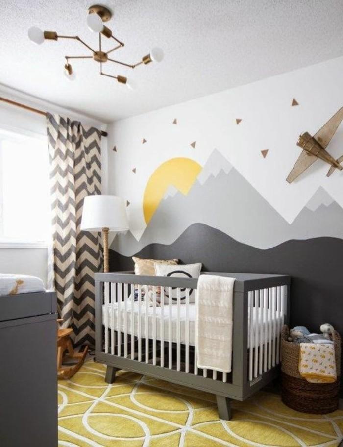 Babyzimmer Junge Wandgestaltung Blau
