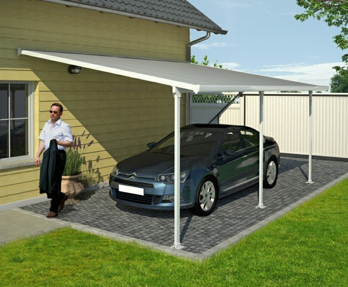 carport selber bauen mehr als 70 ideen und. Black Bedroom Furniture Sets. Home Design Ideas