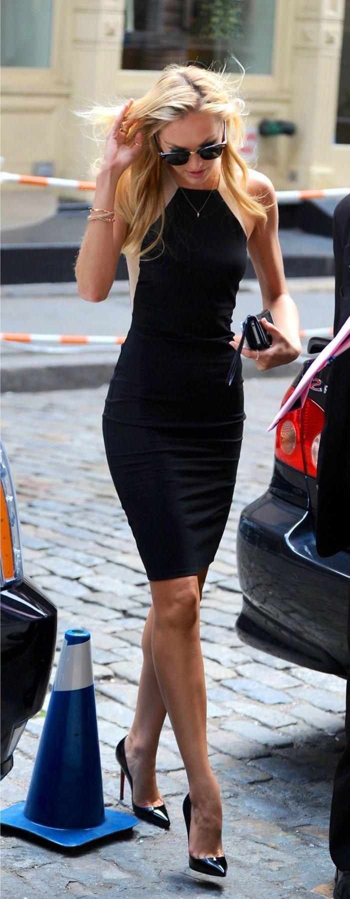 damenkleider-elegant-klassisches-schwarzes-kleid
