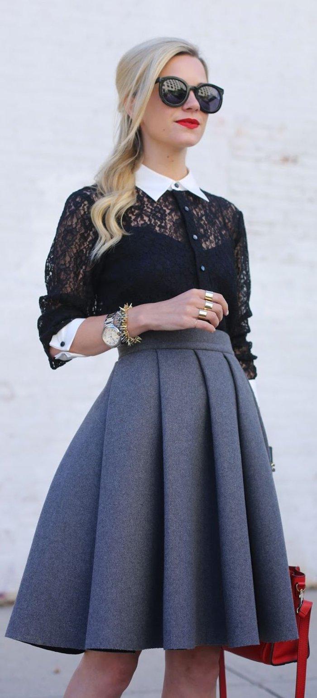 elegante-kleidung-mit-schwarzer-bluse