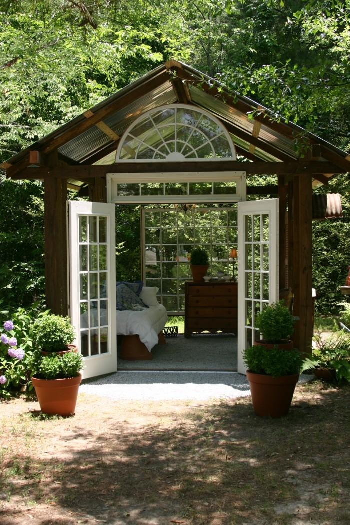 Mehr als 40 vorschl ge wie sie ein gartenhaus selber bauen - Gartenhaus selber mauern ...
