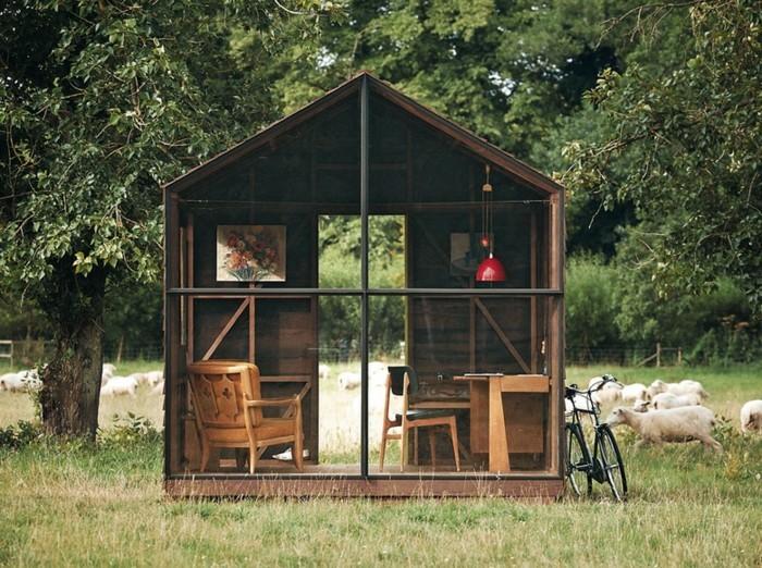 mehr als 40 vorschl ge wie sie ein gartenhaus selber bauen. Black Bedroom Furniture Sets. Home Design Ideas