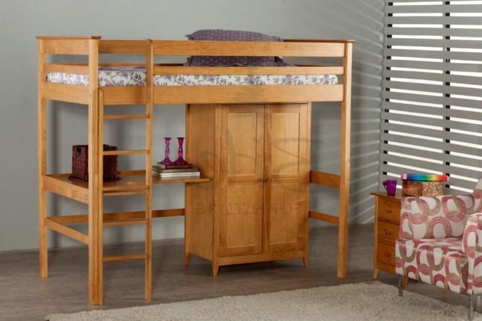 hochbett selber bauen mehr als 100 ideen und bauanleitungen. Black Bedroom Furniture Sets. Home Design Ideas