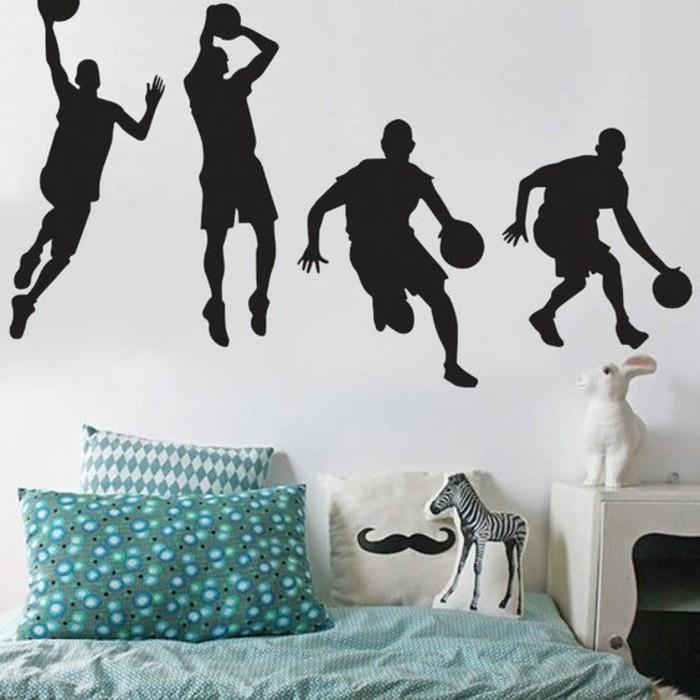 Kinderzimmer Wandgestaltung Tapete : kinderzimmer-wandgestaltung-tapete-mit-athleten