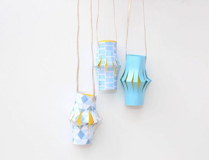 kreative und einfache laternen basteln mit kindern blaue farbe bastelideen für kleinkinder