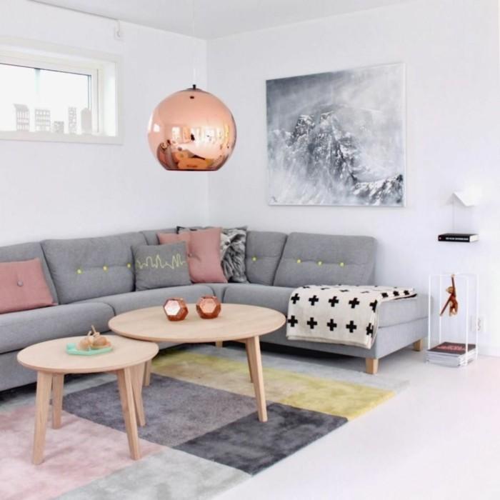 tagwohnzimmer deko grau rosa ~ wohndesign und möbel ideen - Wohnzimmer Deko Rosa