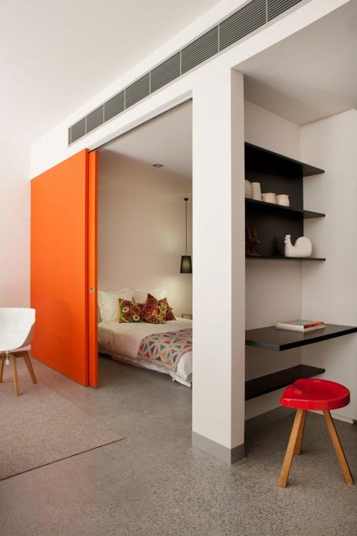 Arbeitszimmer Schlafzimmer Trennen: Vorhänge Als Raumteiler U ... Schlafzimmer Und Arbeitszimmer In Einem Raum