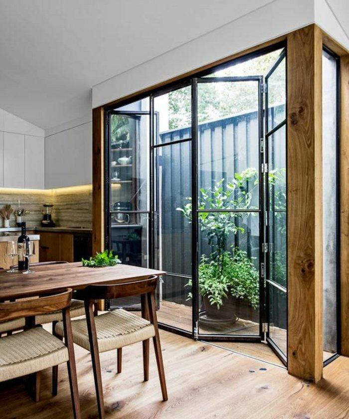Glas Trennwand filigran paravent mattiert Morlen Sinoway Atelier