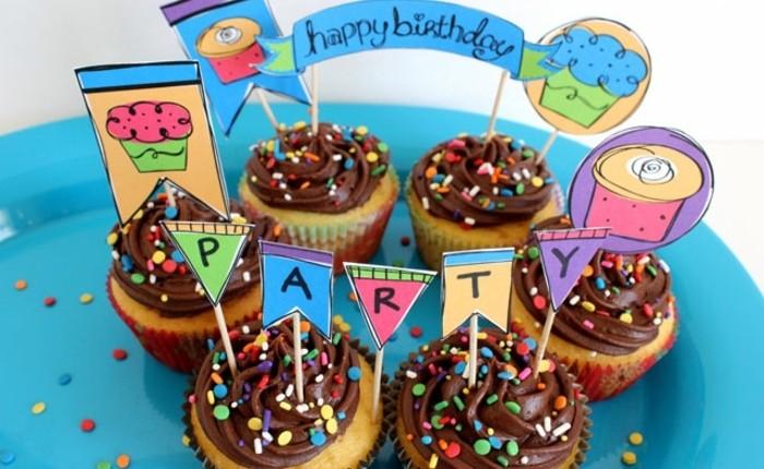 muffins-dekorieren-geburtstag-party-für-das-kind