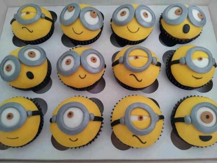 muffins-dekorieren-ideen-minions-fondant-herstellen