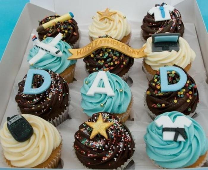muffins-dekorieren-ideen-muffins-dekorieren-zum-vaterstag
