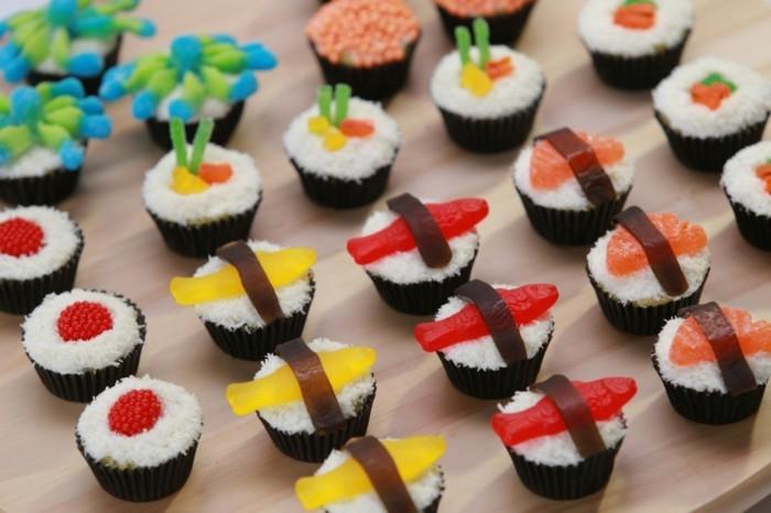 muffins-dekorieren-ideen-sus-sushi-muffin-deko