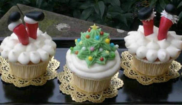 muffins-dekorieren-weihnachten-leckerer-weihnachtsbaum