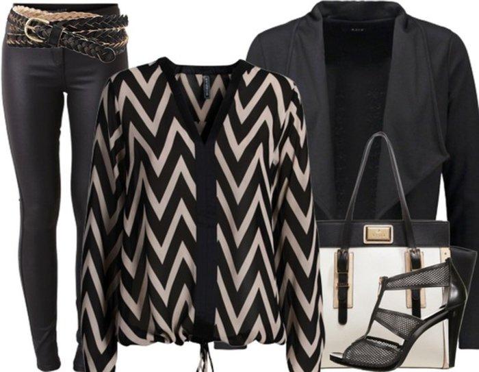 schicke-kleidung-in-schwarzer-farbe