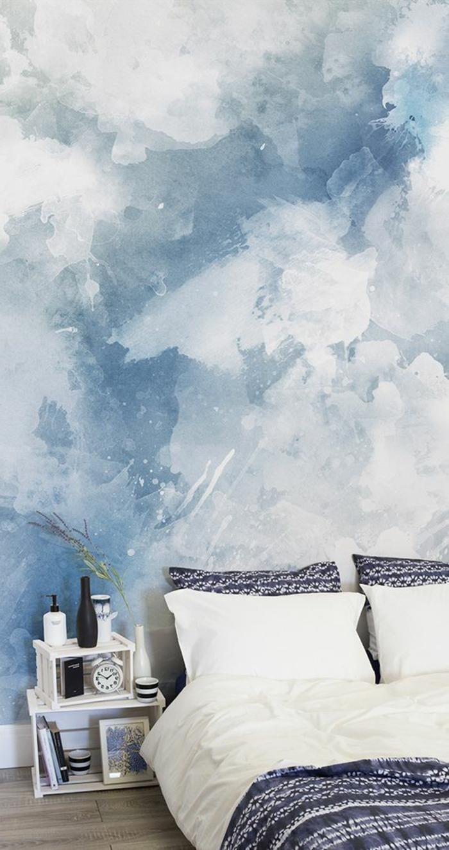 Schlafzimmer Ideen Wandgestaltung Blau Grafffitcom .