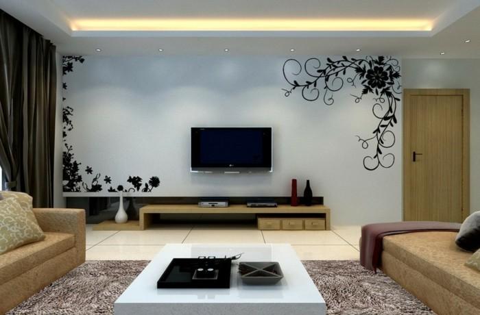 tv wand selber bauen - 80 kreative vorschläge! - archzine.net - Wohnzimmer Ideen Tv Wand Stein