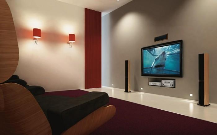 tv wand selber bauen  80 kreative vorschläge!  archzinenet ~ Tv Wand Trockenbau Selber Bauen