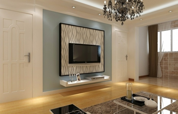 ideen fur tv wand. Black Bedroom Furniture Sets. Home Design Ideas