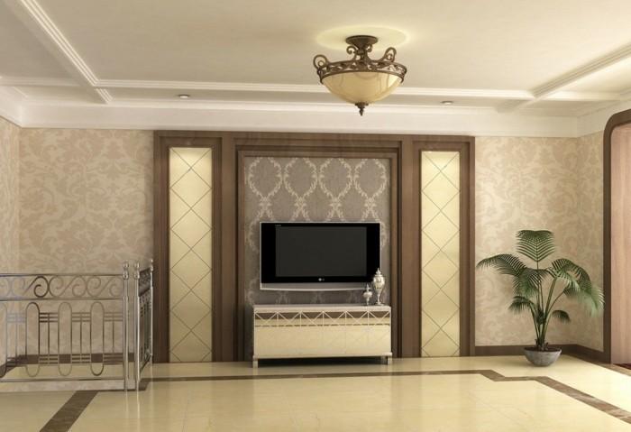 flachbildfernseher wand hangen rahmen, tv wandverkleidung ~ alles über wohndesign und möbelideen, Design ideen