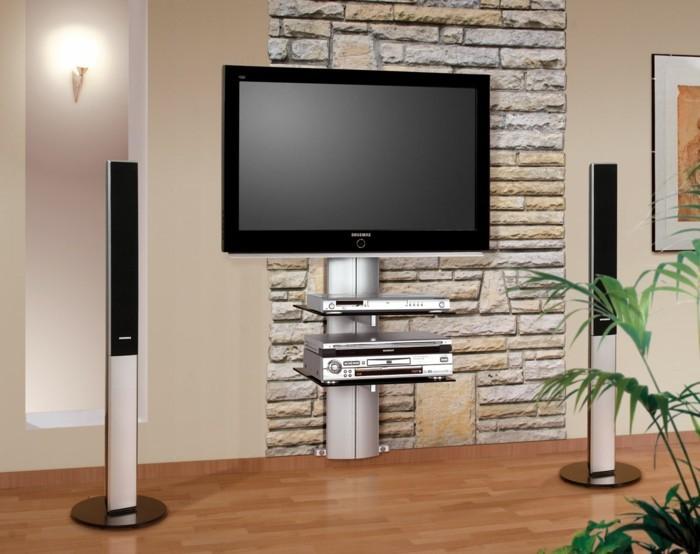Tv wand ideen weiß  TV Wand selber bauen - 80 kreative Vorschläge! - Archzine.net
