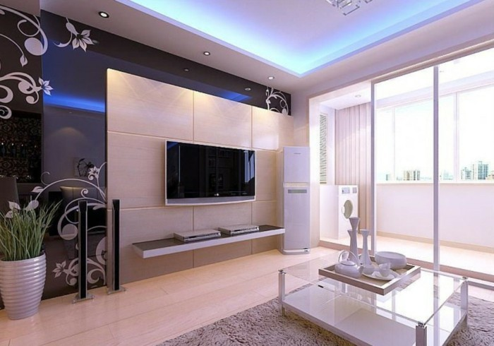 tv wand selber bauen 80 kreative vorschl ge. Black Bedroom Furniture Sets. Home Design Ideas