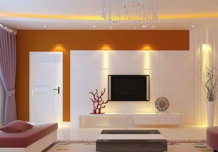 TV Wand selber bauen  80 kreative Vorschläge!  Archzinenet ~ Fernseher Von Wand Gefallen
