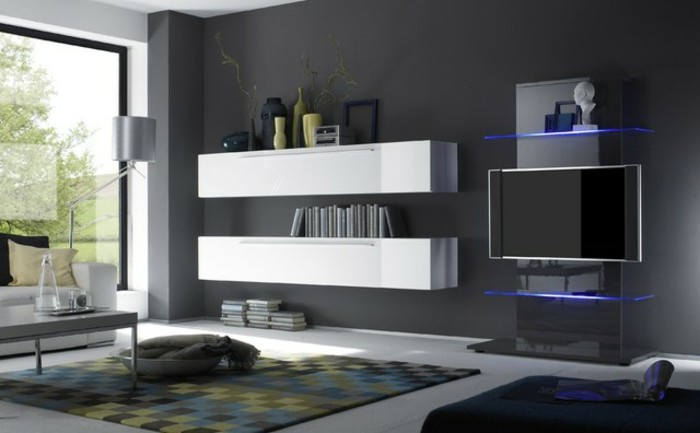 tv wand bauen great die tvwand ist fertig mit den verblendern verklebt und der led hngt auch. Black Bedroom Furniture Sets. Home Design Ideas
