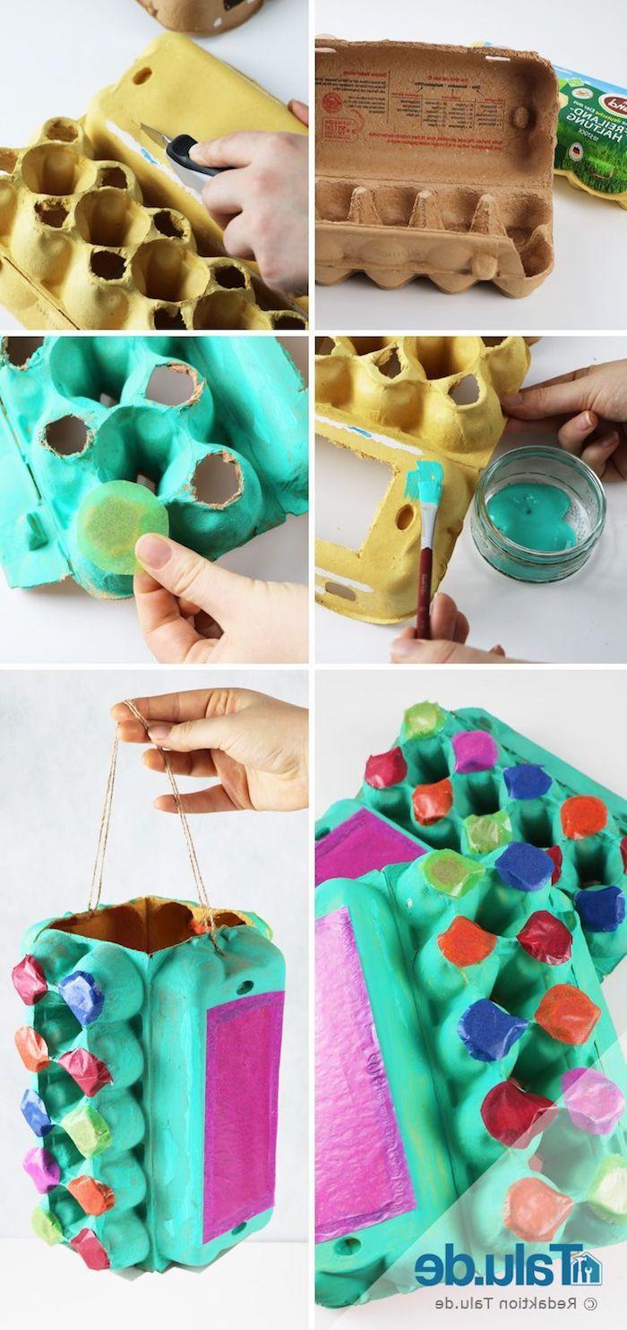 upcycling ideen laternen basteln mit kindern unter 3 jahren aus eikarton
