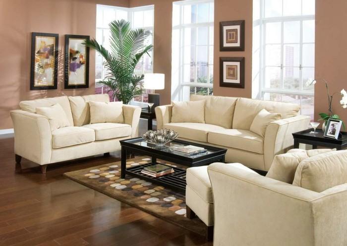 Wohnzimmer Im Kolonialstil Einrichten Quadratisches Gestalten Er Sofa Leder Mit