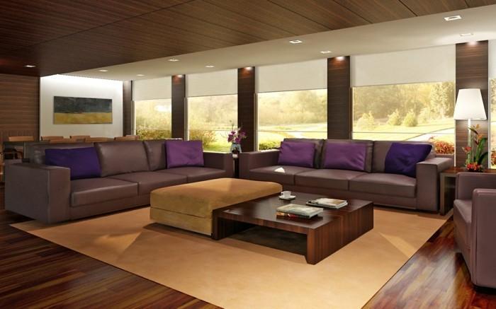 Wohnzimmer einrichtungsideen braun  ▷ 1001+ Ideen für Wohnzimmer einrichten - Tipps und Bildideen