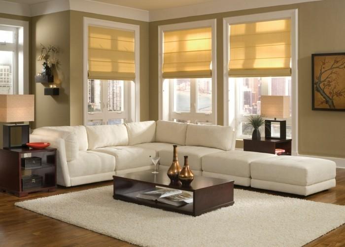 Wohnzimmer einrichten braun weiss  ▷ 1001+ Ideen für Wohnzimmer einrichten - Tipps und Bildideen