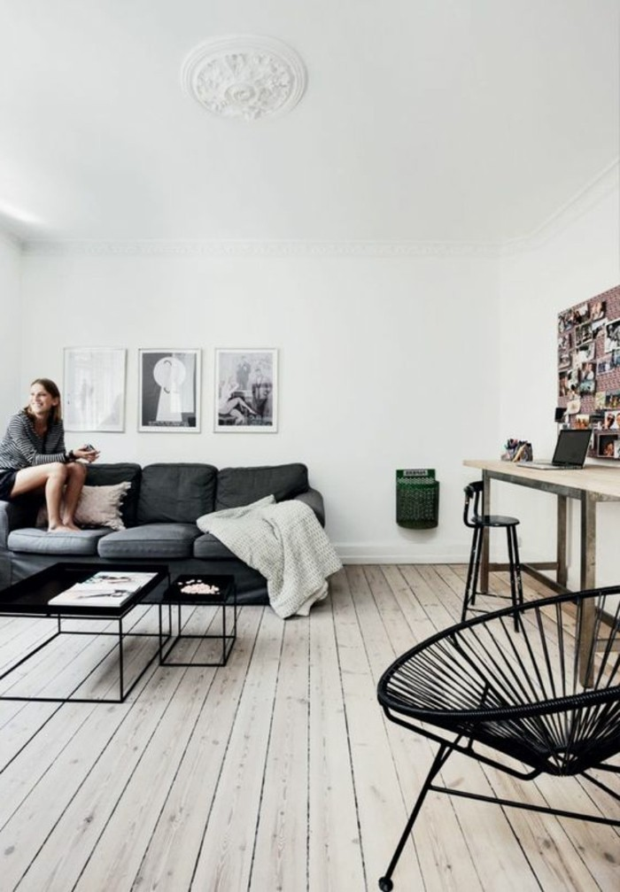 Wohnzimmer Schwarz Weiß Grau