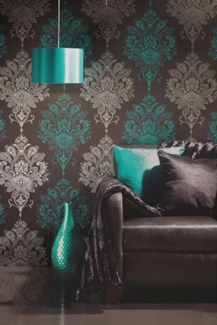wohnzimmer-in-braun-eine-klassiche-ideen-mit-blau-akzente