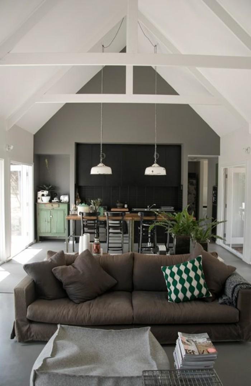 Wohnzimmer In Braun Mit Attraktiv Weis Beleuchtung