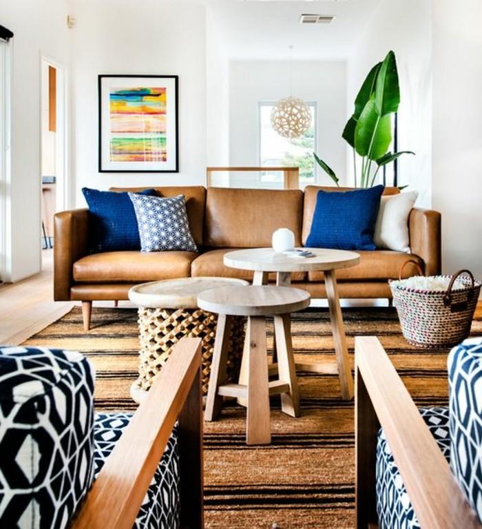 Ein Wohnzimmer In Braun Wirkt Einladend Und Wohnlich. Wohnzimmer Braun Blau