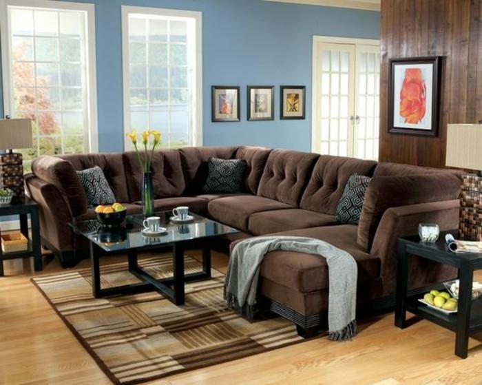 wohnzimmer-in-braun-mit-elegantes-deko-ideen