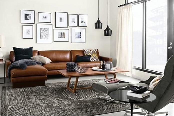 Hochwertig Wohnzimmer In Braun Mit Grau Teppiche