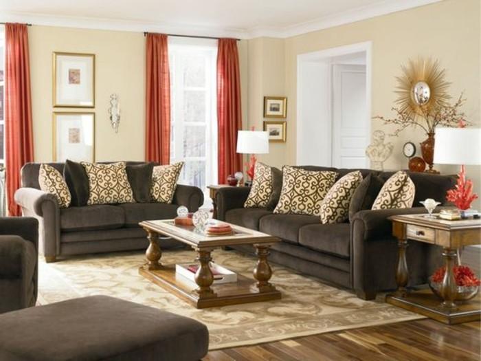 wohnzimmer braun creme ein wohnzimmer in braun wirkt einladend und wohnlich - Wohnzimmer Braun Creme