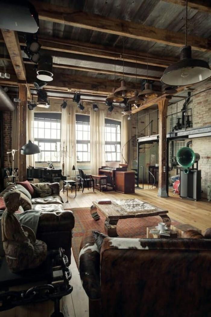 wohnzimmer-in-braun-mit-interessante-vorhange