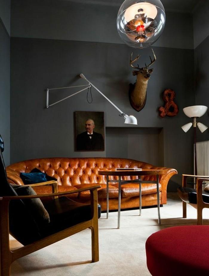 Wohnzimmer Schrankwand Design Ein In Braun Wirkt Einladend Und Wohnlich