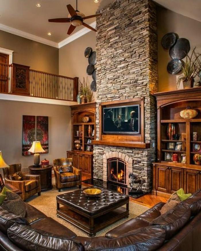 wohnzimmer-in-braun-sehr-moderne-design-fur-wohnzimmer